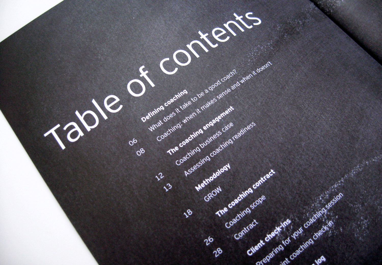 Ernst & Young Brochure Table of Contents Design