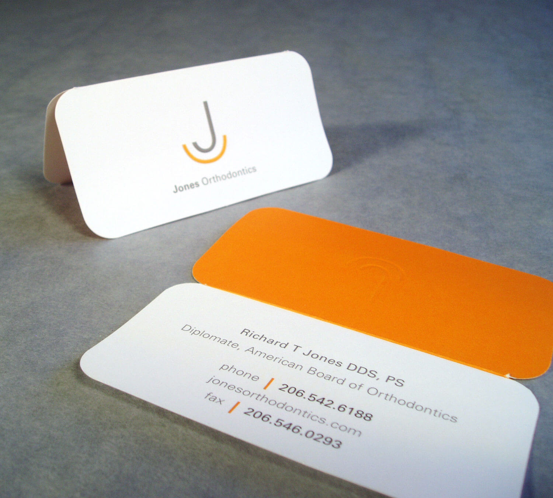 Jones Orthodontics Business Card Design