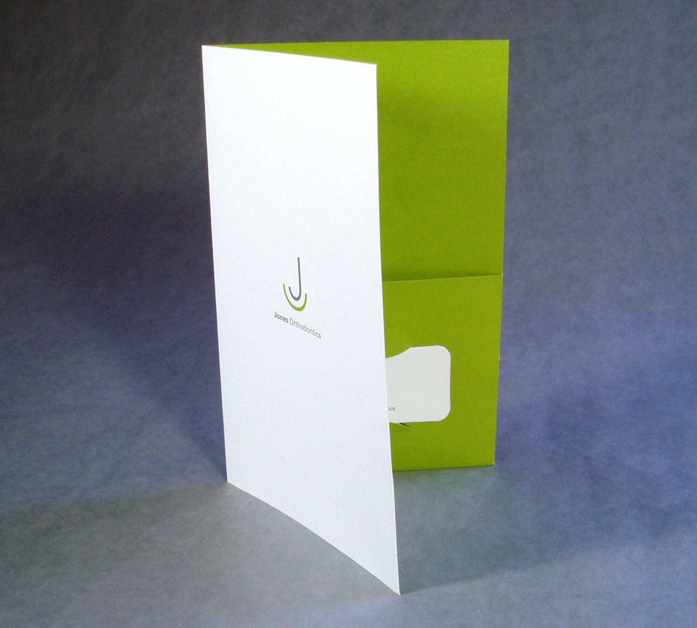 Jones Orthodontics Folder Design