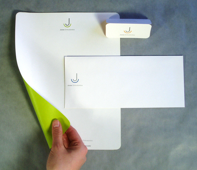 Jones Orthodontics Letterhead Design
